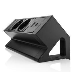 Power Desk up 2.0 met 2x stroom en 2x charger