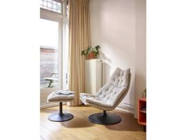 Artifort fauteuil F588 hoog model draaibaar met schijfvoet