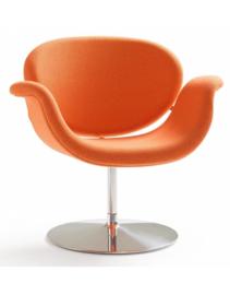 Artifort fauteuil Tulip Midi F549 draaibaar met schijfvoet