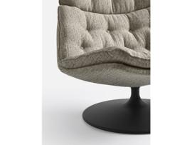 Artifort fauteuil F588L laag model draaibaar op schijfvoet rond