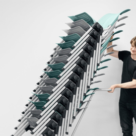 HAG WING Conventio 9821 design conferentiestoel - STAPELBARE ZAALSTOEL