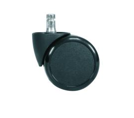 HAG los hard wiel 65mm voor zachte vloer, onbelast geremd zwenkwiel