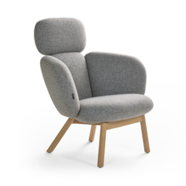 Artifort fauteuil Bras Highback 4-poot hout