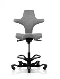 HAG Capisco bureaustoelen model 8106 lichtgrijs