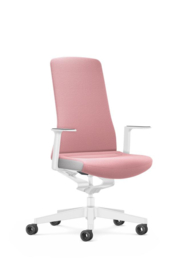 Bureaustoel Interstuhl PUREis3 Edition voor thuiswerkplek Light Pink