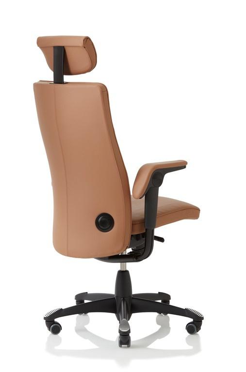 Cognac Leren Bureaustoel.Hag Tribute Bureaustoel Model 9031 In Leder Cognac Met Hoofdsteun