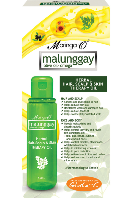 Malunggay Herbal Hair, Scalp & Skin Therapy Oil 55ml