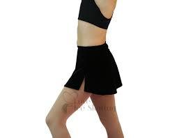A-line Skate Skirt Black met afbeelding schaatster wit (K01)