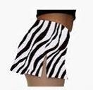 A-line Skate Skirt zebra of effen zwart (K01)