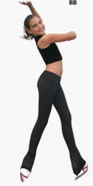 "All black 3""waist band skate pants(P22)"