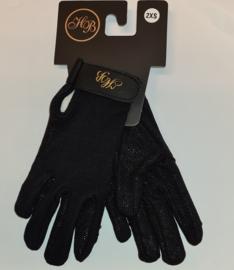 Ruitersport handschoenen zwart