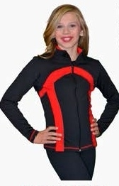Stripe princess seam jacket Child zwart(J77)