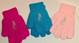 Chloe Noel handschoenen gebreid met steentjes