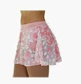 Velvet Burnout lace round Skirt