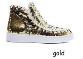 Pailette boots gold