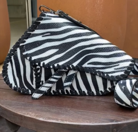 Zebra saddle bag