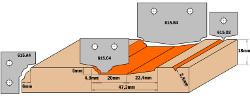 HW profielmessen (Profiel A4) 30x25x2 voor 615.004 4
