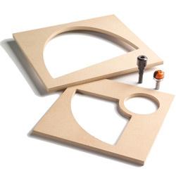 Freessysteem voor schalen en dienbladen (4 onderdelen) S=12