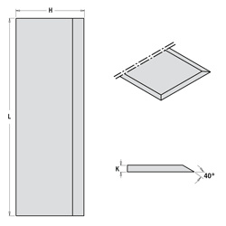 Set (2 stuks) schaafmessen SP 410x35x3