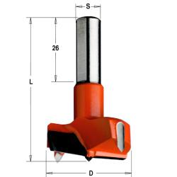 Cilinderkopboor HW S=10x26 D=45x57.5 Links