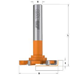 CMT Vlakfrezen met fase voor massief plaatmateriaal