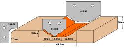 HW profielmessen (Profiel A3) 30x25x2  voor 615.004 3