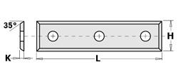 Doosje met 10 stuks wisselmessen HW F1730 50x9x1.5 35°
