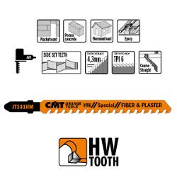Decoupeerzaagbladen HW 100x5-20x6TPI (3 stuks) bouwmaterialen/recht/grof
