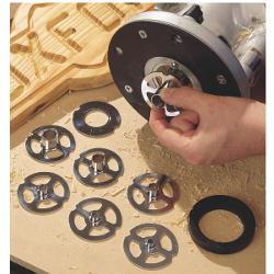 CMT Geleidingsringenset: 7 ringen, geleiderplaat, uitlijnring en afstandsring