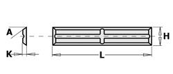 HW F1730 wisselmessen gekruiste ruggroeven CMT