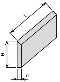 Set (2 stuks) HS 18% schaafmessen 100x35x3
