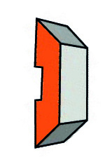Set (2 stuks) HW Bulldozer/Rekoplan-Systeem messen 180x13.6x1.8
