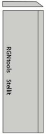 Set (2 stuks) Stellit schaafmessen 310x35x3