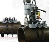 Pijpzadel voor magneten,  geschikt voor buismateriaal van Ø 35 – 550 mm
