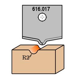 Profielmes voor MDF-bovenfrees 616.200, rechts