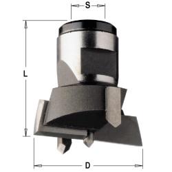 Cilinderkopboor verwisselbaar HW Z2+2 S=M12x1 D=50x30 Links