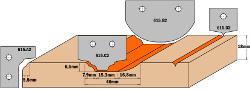HW profielmessen (Profiel A2) 30x25x2  voor 615.004 2