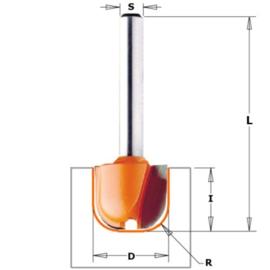 Kop- en schotelfrees HW S=6 D=19 R=6.35 CMT