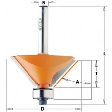 Afschuinfrees HW  D=19  S=6.35 A=15°