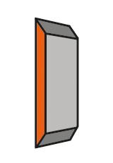 Set (20 stuks) HS Standaard messen Brück-Systeem 130x18.6x0.9