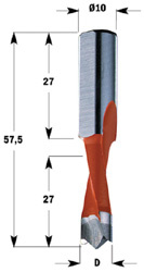 Drevelboor HW S=10x27 D=8x27x57.5 Links