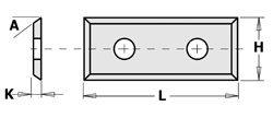 Doosje met 10 stuks wisselmessen met 4 snijkanten  HW F1730 29.5x9x1.5 35°