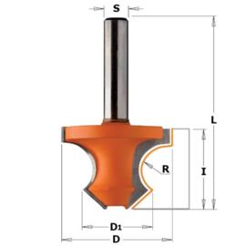 Kraalprofielfrees 45° HW S=8 D=36 R=8 CMT