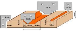 HW profielmes (Profiel B1) 50x30x2  voor 615.004 1