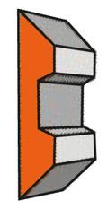 Set (2 stuks) HS Centrolock-Systeem schaafmessen 180x16x3