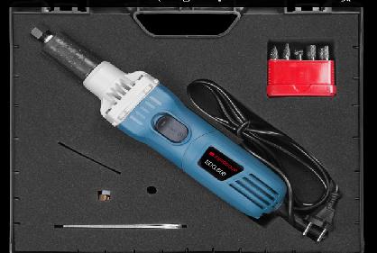Elektrische rechte slijper  met variabel toerental met 10- del stiftfrezen set