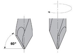 Drevelboor spits HW S=10x30 D=8x70x115 Links