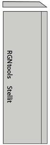 Set (2 stuks) Stellit schaafmessen 230x35x3