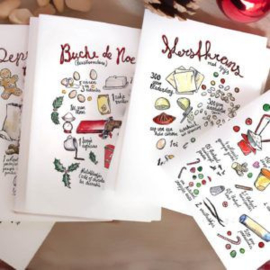 Set van 5 kerstkaarten - Amelieke