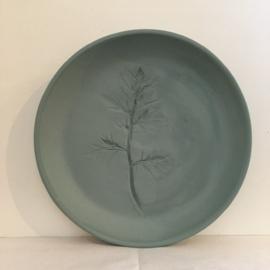 Bordje met plantenafdruk Medium- Studio Harm&Elke